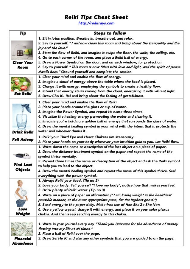 Reiki Infographics Ebook
