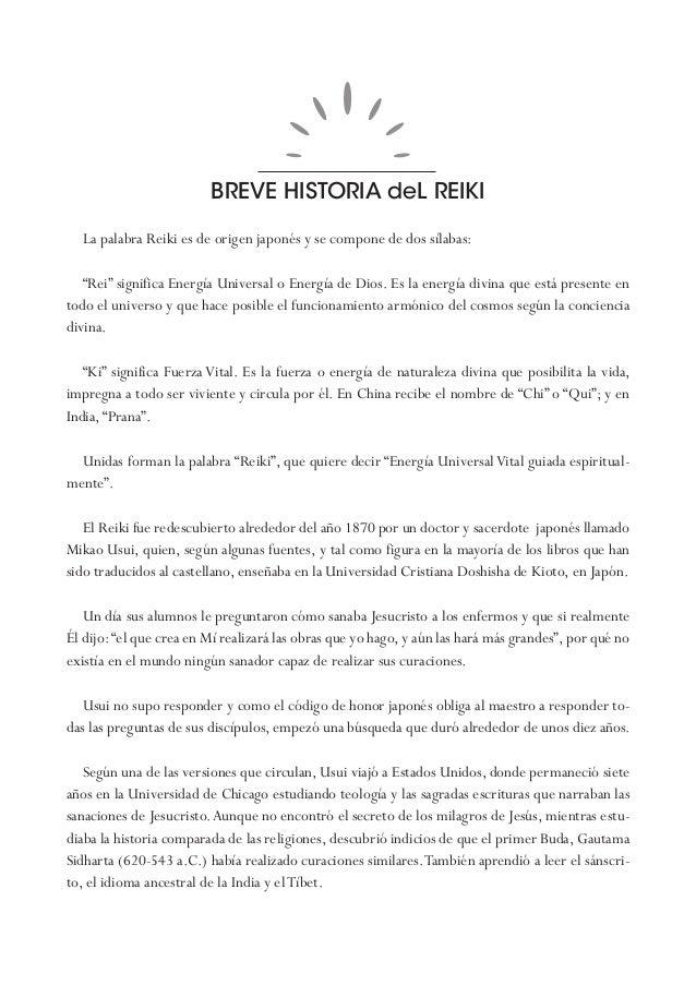 """BREVE HISTORIA deL REIKI La palabra Reiki es de origen japonés y se compone de dos sílabas: """"Rei"""" significa Energía Univer..."""