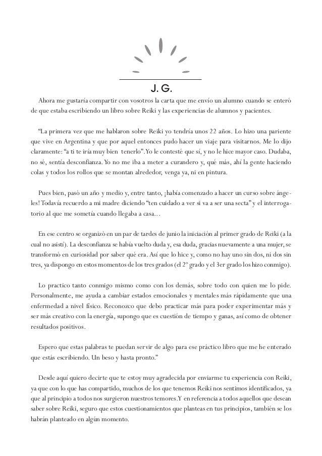 J. G. Ahora me gustaría compartir con vosotros la carta que me envío un alumno cuando se enteró de que estaba escribiendo ...