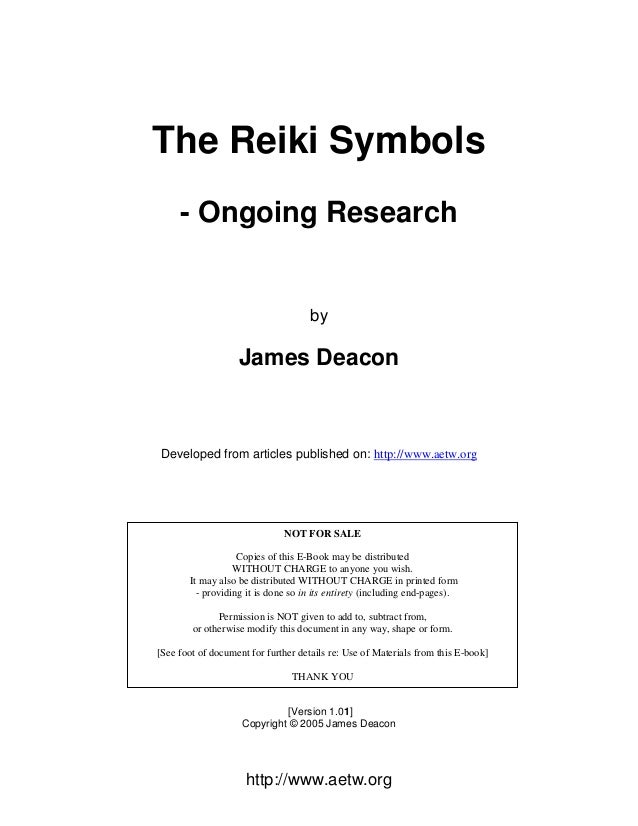 Reiki Symbol Research