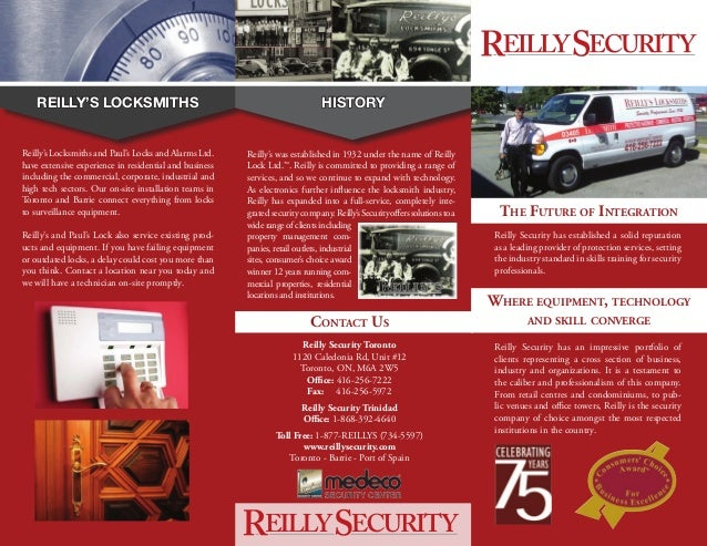 reilly security brochure services. Black Bedroom Furniture Sets. Home Design Ideas