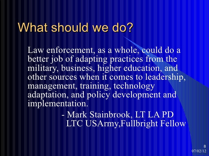law enforcement and leadership essay This paper explores stress and burnout for law enforcement burnout for law enforcement criminology essay police leadership to recognize and.