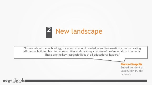 """New landscape2 """"It's not about the technology; it's about sharing knowledge and information, communicating efficiently, bu..."""