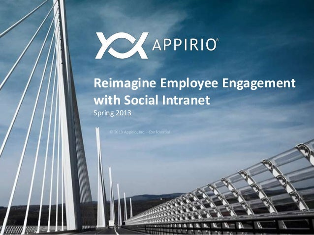 Reimagine Employee Engagementwith Social IntranetSpring 2013© 2013 Appirio, Inc. - Confidential