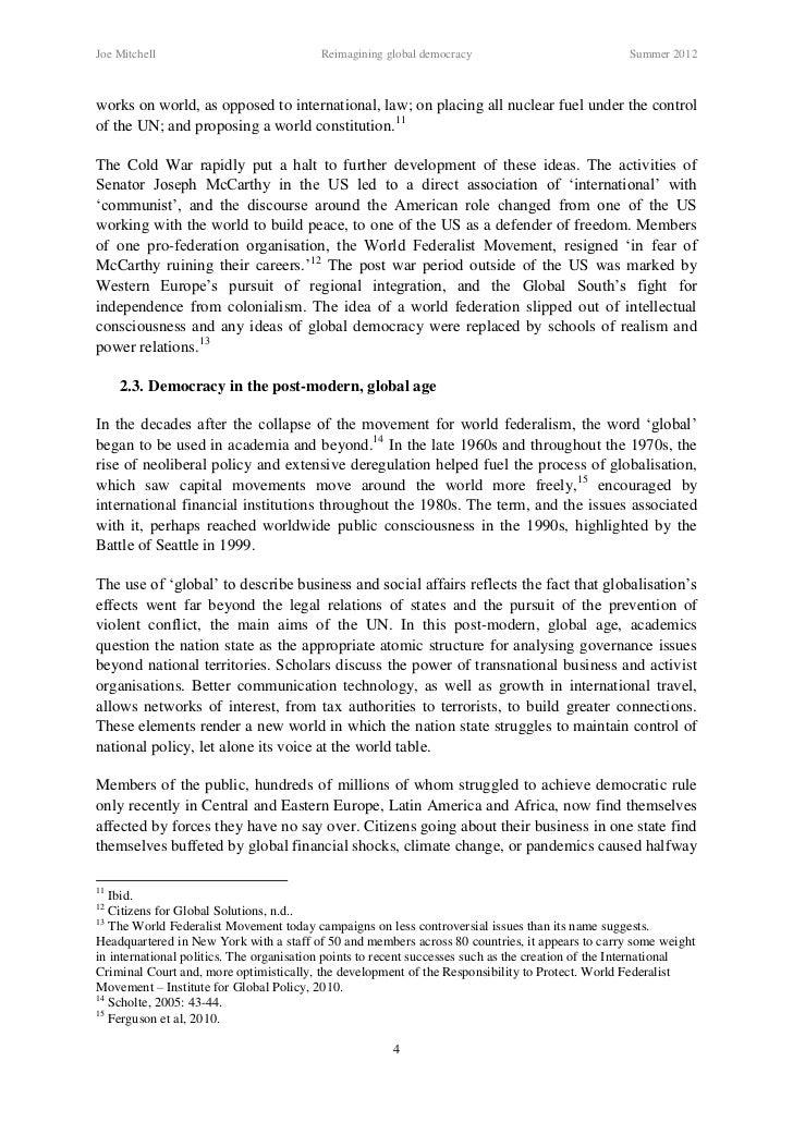 conclusion of democracy essay