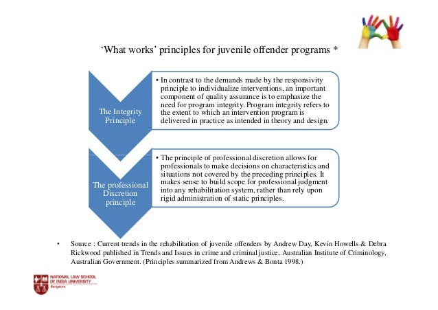 successful stories of rehabilitation program for juvenile delinquencies Rehabilitative methods and the affect on mcnair scholars program research studies and articles that address juvenile delinquency and rehabilitation in.