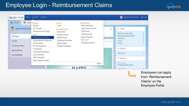 Reimbursement Claims Module