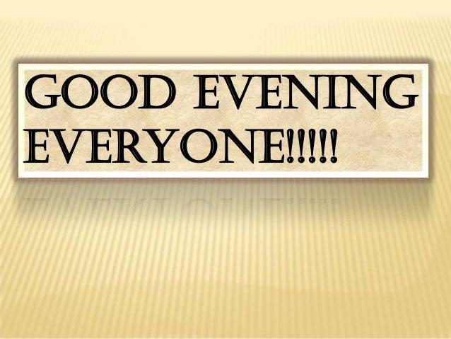 Good evening everyone!!!!!