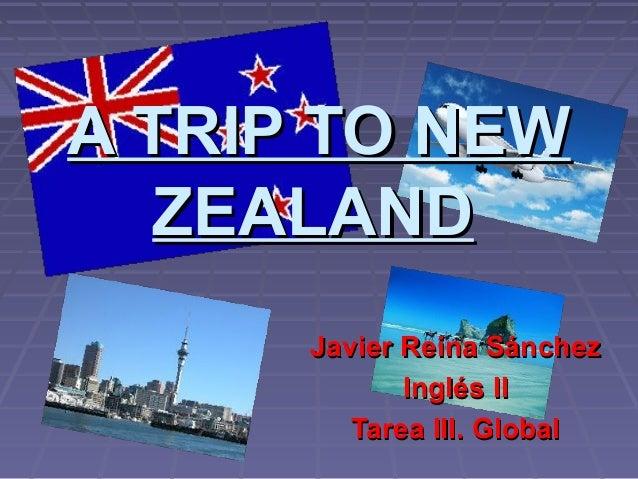 A TRIP TO NEWA TRIP TO NEWZEALANDZEALANDJavier Reina SánchezJavier Reina SánchezInglés IIInglés IITarea III. GlobalTarea I...