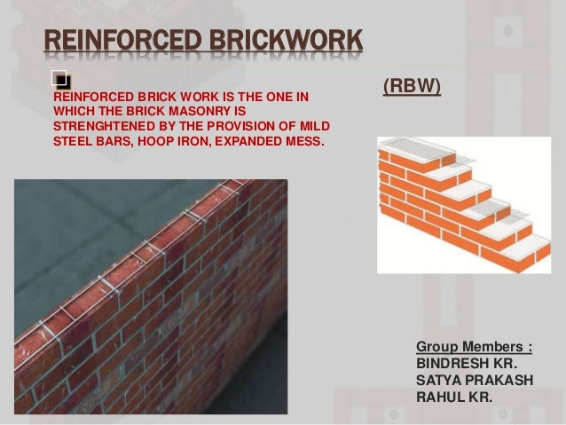 Reinforced Brickwork