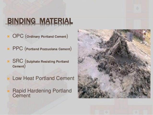 Ordinary Portland Cement : Reinforced brickwork