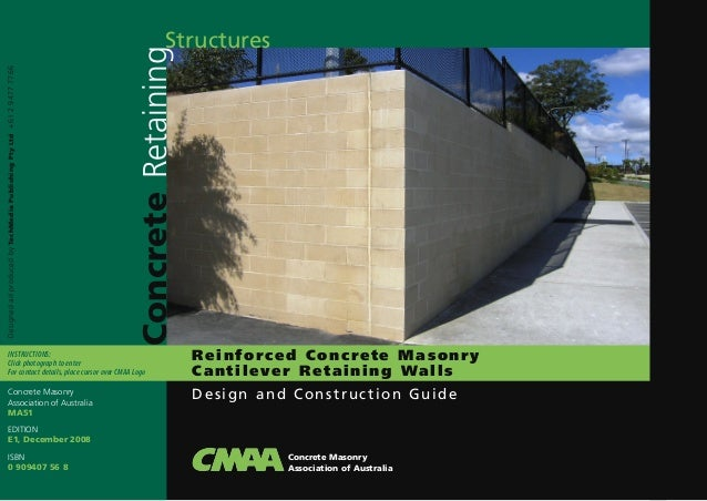 Reinforced Concrete Masonry Cantilever Reaining Walls