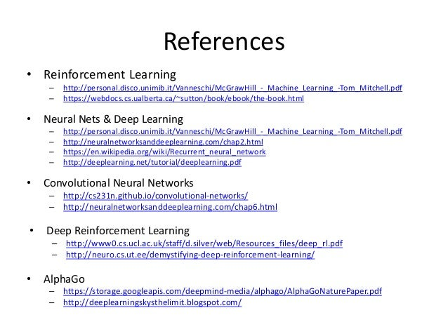 Reinforcement Learning and Artificial Neural Nets