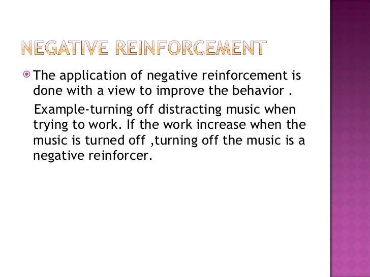 Reinforcement in classroom