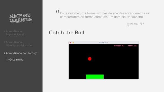 > Aprendizado Supervisionado > Aprendizado Não-Supervisionado > Aprendizado por Reforço >> Q-Learning Catch the Ball Q-Lea...