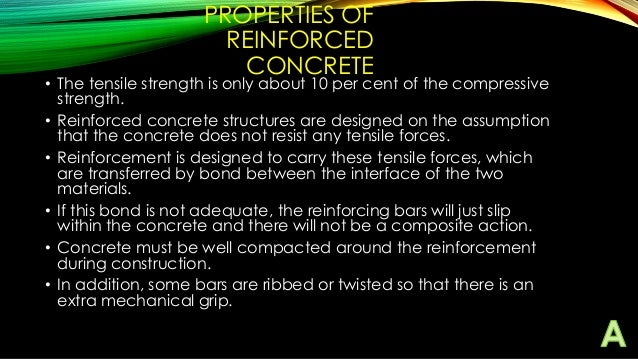 Properties Of Concrete : Reinforcement ppt assignment