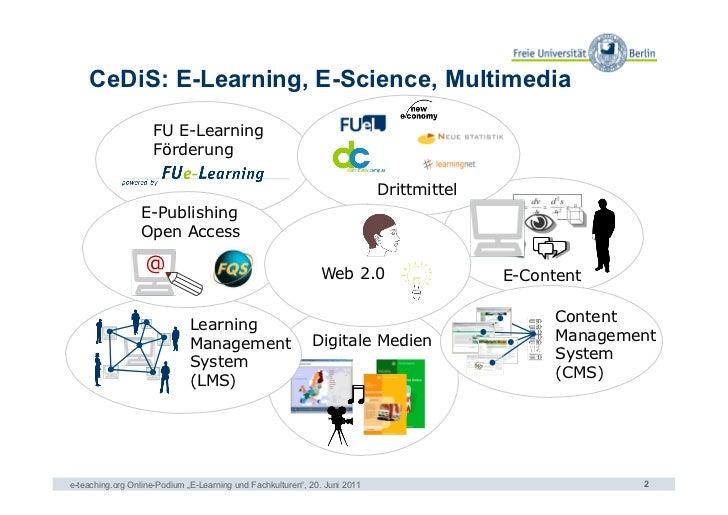 CeDiS: E-Learning, E-Science, Multimedia                    FU E-Learning                    Förderung                    ...