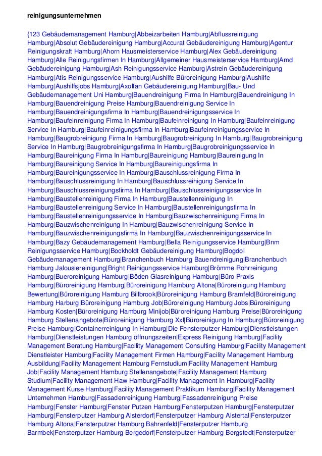 reinigungsunternehmen {123 Gebäudemanagement Hamburg|Abbeizarbeiten Hamburg|Abflussreinigung Hamburg|Absolut Gebäudereinig...