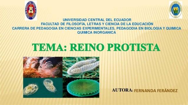 UNIVERSIDAD CENTRAL DEL ECUADOR FACULTAD DE FILOSOFÍA, LETRAS Y CIENCIA DE LA EDUCACIÓN CARRERA DE PEDAGOGIA EN CIENCIAS E...