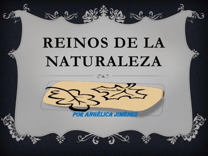 REINOS DE LANATURALEZA  Por Angélica Jiménez