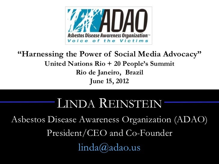 """Harnessing the Power of Social Media Advocacy""       United Nations Rio + 20 People's Summit                Rio de Janeir..."