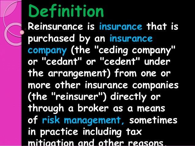Re Insurance Pptx