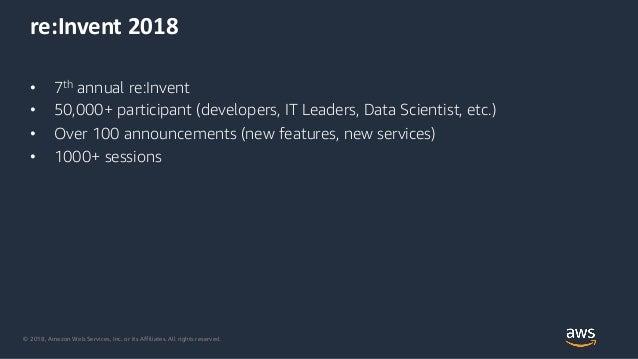 AWS reInvent 2018 recap edition Slide 2