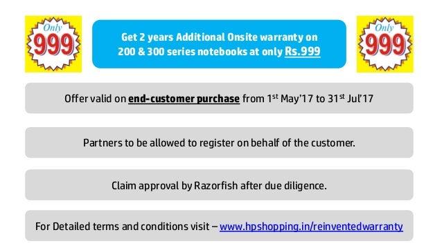 HP Reinvented warranty offer