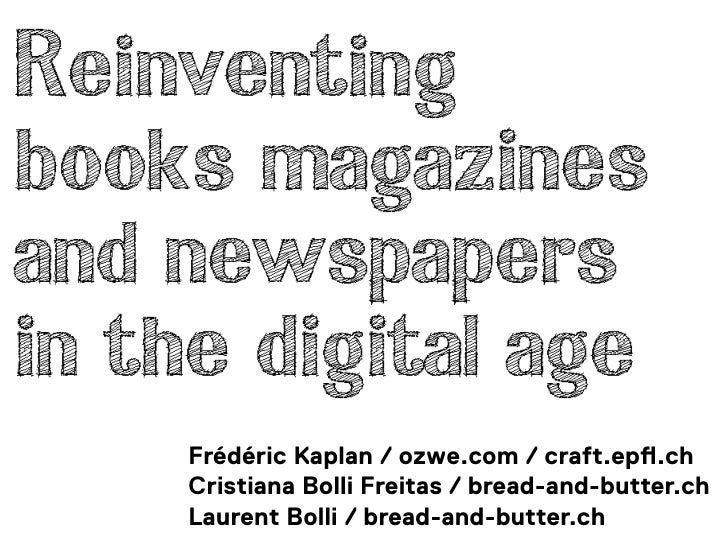 Reinventing books
