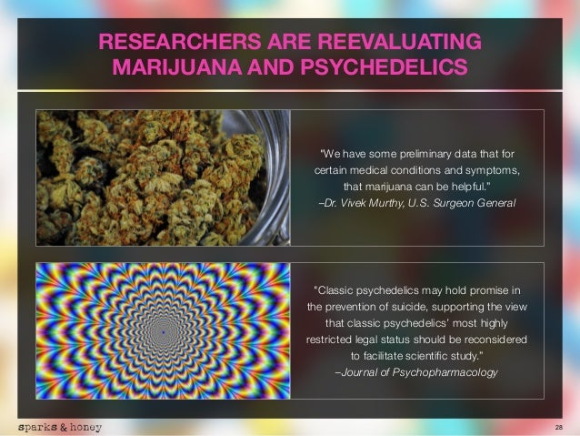 """28 RESEARCHERS ARE REEVALUATING MARIJUANA AND PSYCHEDELICS """"We have some preliminary data that for  certain medical condi..."""