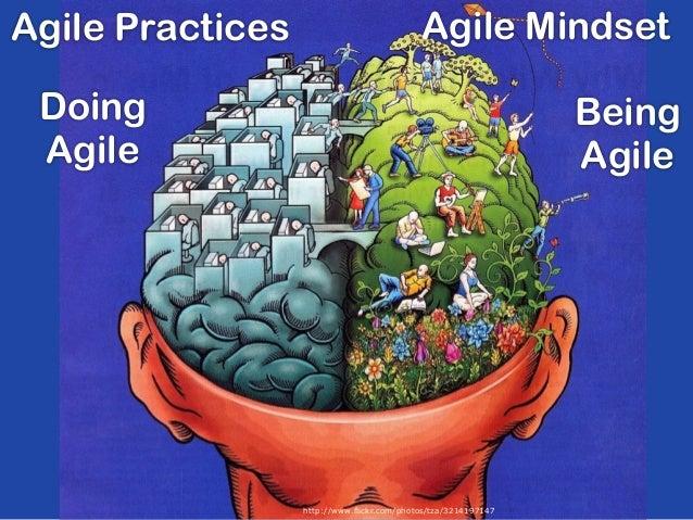 Agile Mindset http://www.flickr.com/photos/tza/3214197147 Doing Agile Being Agile Agile Practices