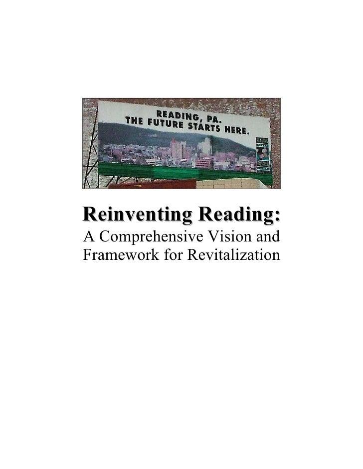 Reinventing Reading: A Comprehensive Vision and Framework for Revitalization