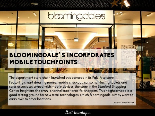 BLOOMINGDALES INCORPORATES MOBILE TOUCHPOINTS The - Free download of invoice template gucci outlet store online
