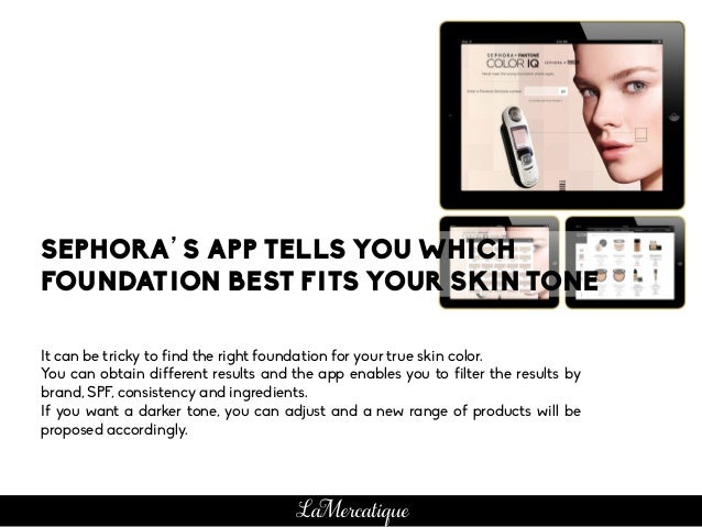 It can be tricky to find the right foundation for your true skin color. You can obtain different results and the app enabl...
