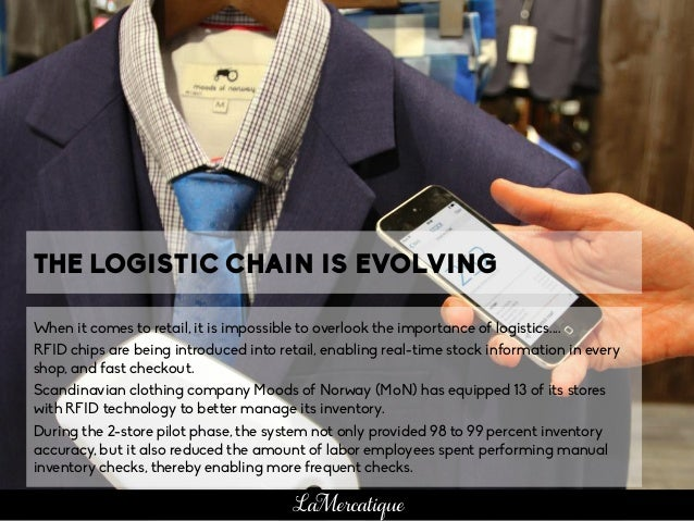 THE LOGISTIC CHAIN IS EVOLVING When it comes to retail, it is impossible to overlook the importance of logistics.... RFID ...