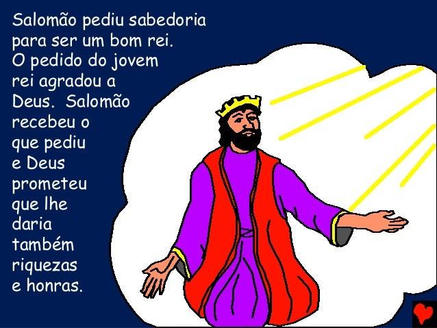 Resultado de imagem para Salomão pediu a Deus a sabedoria