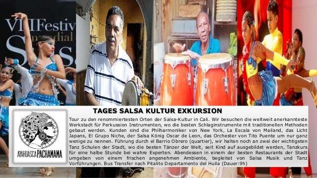TAGES SALSA KULTUR EXKURSION Tour zu den renommiertesten Orten der Salsa-Kultur in Cali. Wir besuchen die weltweit anerkan...