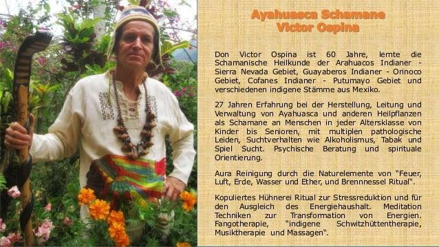 Don Victor Ospina ist 60 Jahre, lernte die Schamanische Heilkunde der Arahuacos Indianer - Sierra Nevada Gebiet, Guayabero...