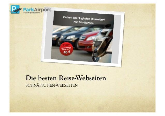 Die besten Reise-Webseiten  SCHNÄPPCHEN-WEBSEITEN