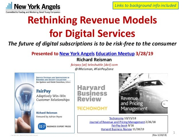 Rethinking Revenue Models for Digital Services The future of digital subscriptions is to be risk-free to the consumer Pres...
