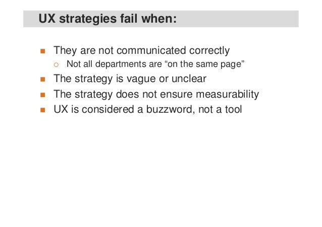 UX Strategy - the secret to long-term business success instead of one-shot wonders