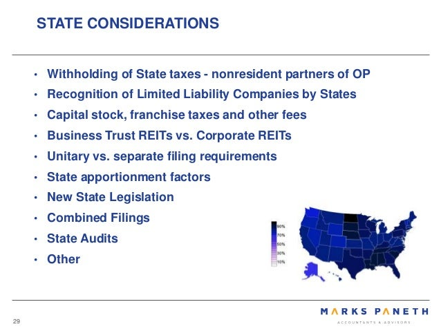 Reit 101 hurwitz 10 10 2017 federal considerations 28 29 withholding of state taxes sciox Choice Image