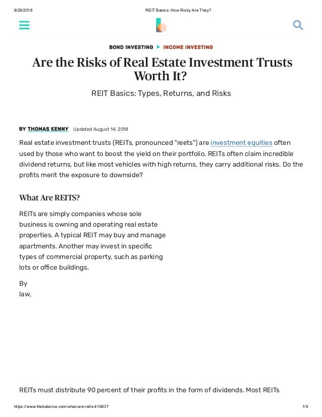 High yield real estate investment trusts pei yi investments limited james