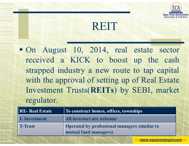 Real Estate Reit : Reits a new kick for real estate