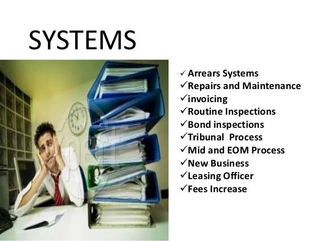 SYSTEMS           Arrears Systems          Repairs and Maintenance          invoicing          Routine Inspections    ...