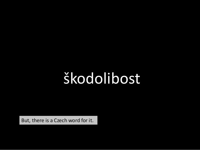 škodolibost But, there is a Czech word for it.