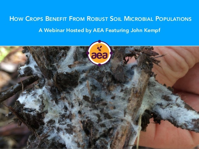 HOW CROPS BENEFIT FROM ROBUST SOIL MICROBIAL POPULATIONS A Webinar Hosted by AEA Featuring John Kempf