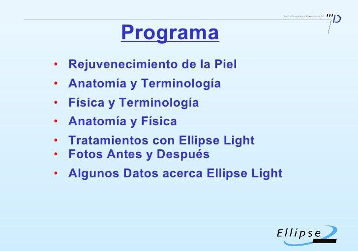 <ul><li>Rejuvenecimiento de la Piel  </li></ul><ul><li>Anatomía y Terminología </li></ul><ul><li>Física y Terminología </l...