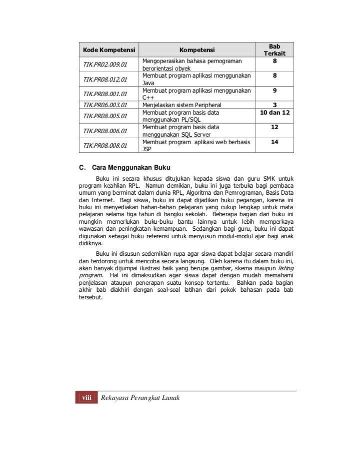 Rekayasa Perangkat Lunak Untuk Smk Jilid 3