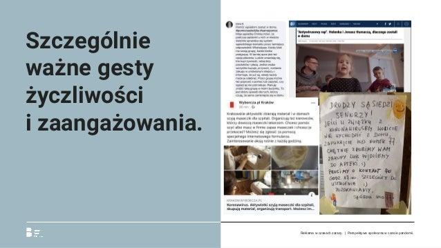 Szczególnie ważne gesty życzliwości izaangażowania. Reklama w czasach zarazy. | Perspektywa społeczna w czasie pandemii.